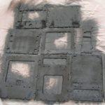 Flat krylon black paint applied on insides