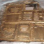 Krylon Metallic 1701 gold on outsides (and edges)