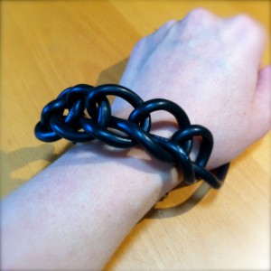 Firewire cable bracelet attempt.