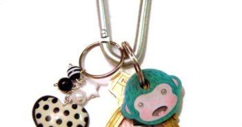 Keys on a keychain