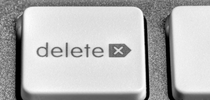 delete key on a computer keyboard