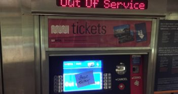 SF Muni ticket machine out of service due to ransom ware. https://twitter.com/LisaAminABC7/status/802693810983579648/photo/1