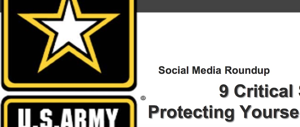 close crop of title slide from army presentation on social media