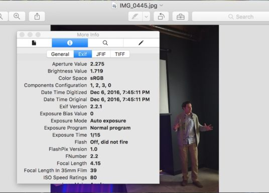 One Thing To Do Today: Learn how to remove EXIF Data from photos