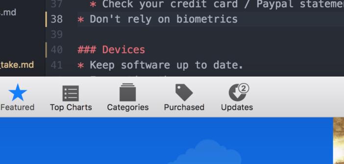 Screen shot of Apple updates logo
