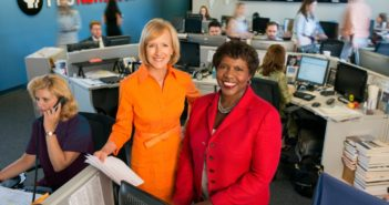 Two badass ladies anchoring a newsroom.