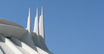 The top of Space Mountain ride at Disney Land