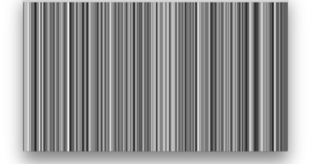 a series of black vertical lines on a white field of varying width