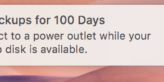 system warning that the computer hasn't been backed up in 100 days