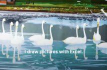 Illustration of swans on a lake