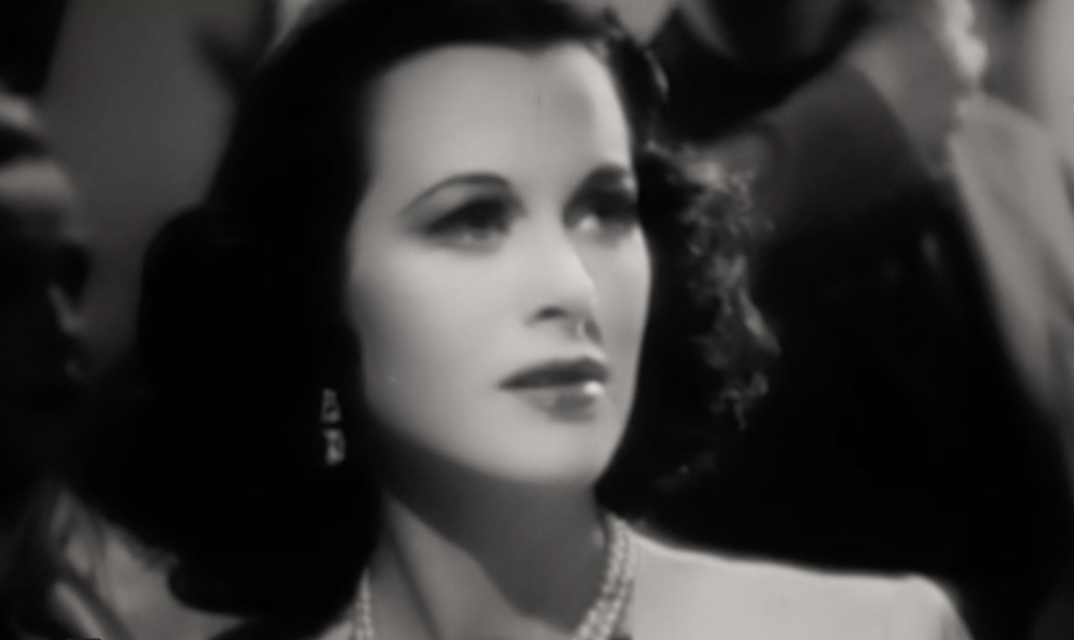 the face of Hedy Lamarr