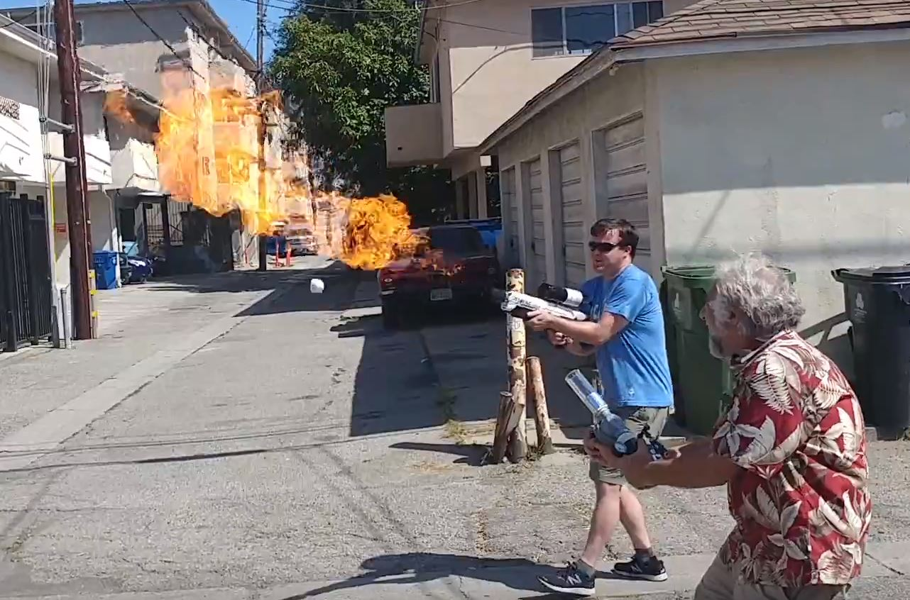 Not-A-Flamethrower testing