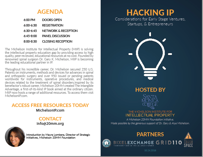Hacking IP Los Angeles Event on Oct 24